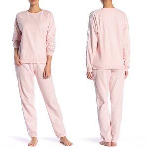 NEW French Connection Logo Stripe Pyjama Bottoms L